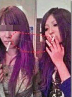大石絵里のタバコ写真
