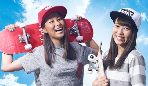 スケートボード美人姉妹の西村姉妹
