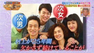 村上弘明の家族写真